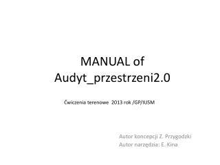 MANUAL of Audyt_przestrzeni2.0
