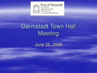 Darmstadt Town Hall Meeting