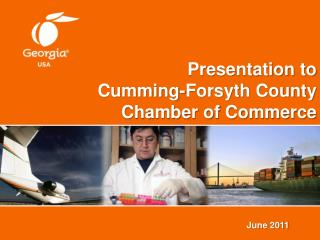 Presentation to Cumming-Forsyth County Chamber of Commerce