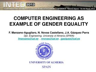 COMPUTER ENGINEERING AS EXAMPLE OF GENDER EQUALITY