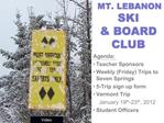 MT. LEBANON  SKI   BOARD CLUB