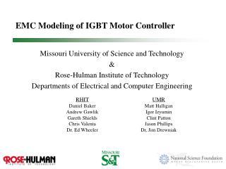 EMC Modeling of IGBT Motor Controller