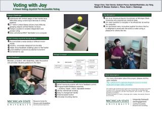 Voting with Joy A Smart Voting Joystick For Accessible Voting