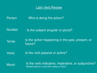 Latin Verb Review
