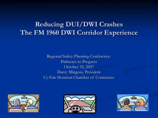 Reducing DUI