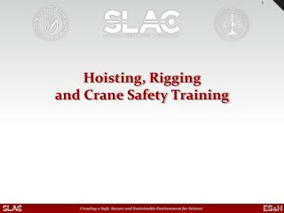 Hoisting, Rigging  and Crane Safety Training