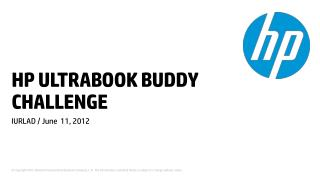 HP ULTRABOOK BUDDY CHALLENGE