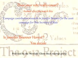 Is Jennifer Brunner Honest?
