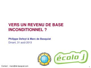 vers un revenu de base inconditionnel ?