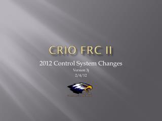 cRIO FRC II