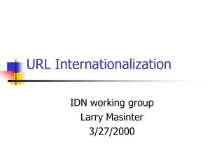 URL Internationalization