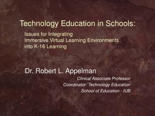 Technology Education in Schools: