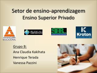 Setor de ensino-aprendizagem Ensino Superior Privado