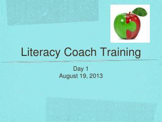 Literacy Coach Training