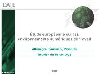 Étude européenne sur les environnements numériques de travail