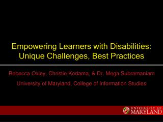 Empowering Learners with Disabilities: Unique Challenges, Best Practices