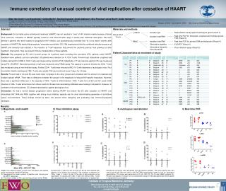 Immune correlates of unusual control of viral replication after cessation of HAART