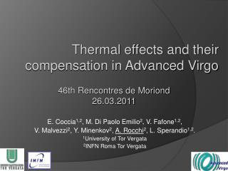 Thermal effects and their compensation in Advanced Virgo