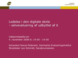 Ledelse i den digitale skole - selvevaluering af udbyttet af it