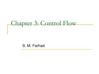 Chapter 3: Control Flow