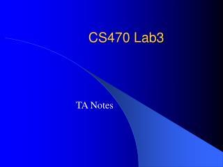 CS470 Lab3