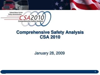 Comprehensive Safety Analysis CSA 2010