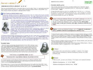PERIODICK� S�STAVA PRVKOV   str. 54 - 63