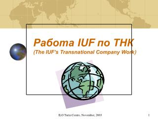 ??????  IUF  ?? ???  ( The IUF�s Transnational Company Work )
