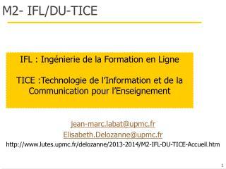 M2- IFL/DU-TICE