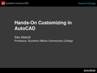 Hands-On Customizing in AutoCAD