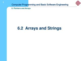 6.2  Arrays and Strings