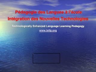 Pédagogie des Langues à l'école Intégration des Nouvelles Technologies