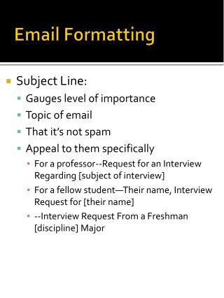 Email Formatting