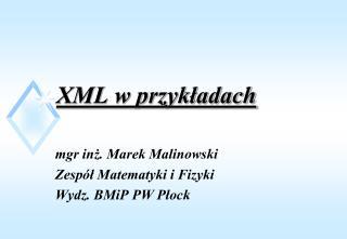 XML w przykładach