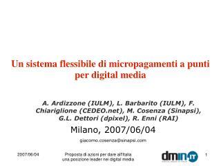 Un sistema flessibile di micropagamenti a punti per digital media