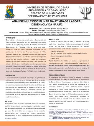 UNIVERSIDADE FEDERAL DO CEARÁ PRÓ-REITORIA DE GRADUAÇÃO CENTRO DE HUMANIDADES