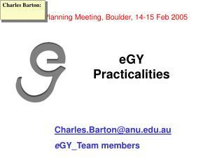 eGY  Practicalities