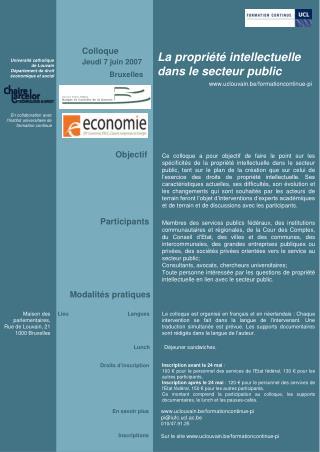 La propriété intellectuelle dans le secteur public