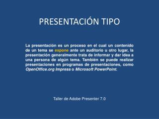 PRESENTACIÓN TIPO