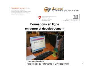 Formations en ligne en genre et développement
