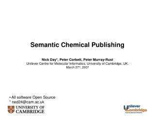 Semantic Chemical Publishing