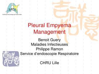 Pleural Empyema Management