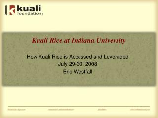 Kuali Rice at Indiana University