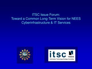 ITSC Issue Forum: Toward a Common Long-Term Vision for NEES Cyberinfrastructure & IT Services