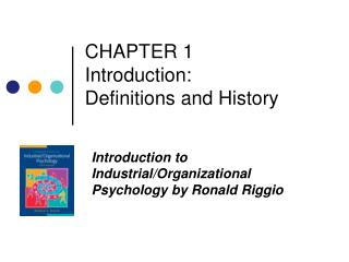 CHAPTER 1  Introduction:  Definitions and History