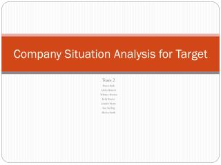 Company Situation Analysis for Target