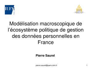 Modélisation macroscopique de l'écosystème politique de gestion des données personnelles en France