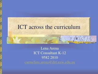 ICT across the curriculum