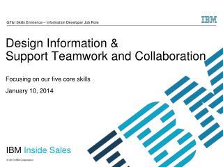 IBM  Inside Sales