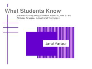 What Students Know
